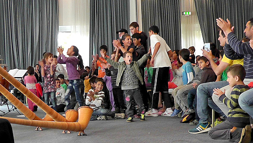 Familyconcert with syrian children in Frankfurt (Oder)